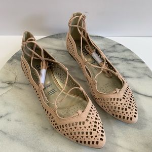 """A.N.A """"Fallon"""" lace up perforated flats"""